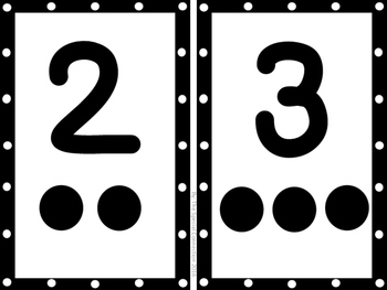 Number Cards: 0-10 - Black and white