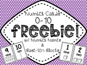Number Cards {0-10 FREEBIE}