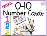 Number Cards 0-10 FREEBIE