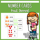 Number Cards 0-10 - Fruit Themed
