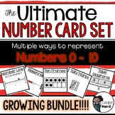 Number Cards 0-10 - Print and Go Cards fir creative lesson plans