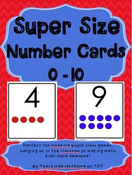 Number Cards - Supersize Deck 0-10
