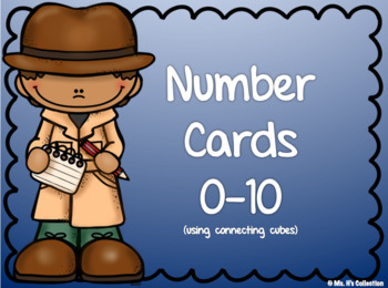 Number Cards 0-10 Using Counting Cubes