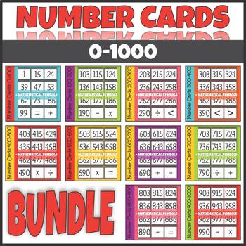 Number Cards 0-1000 BUNDLE