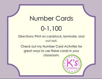 Number Cards 0-1,100