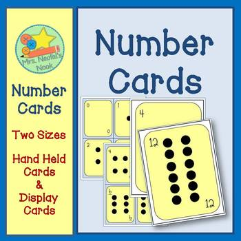 Number Cards - Numbers 0 to 12 with Dots