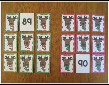 Number Card Activities 0-120 Reindeer