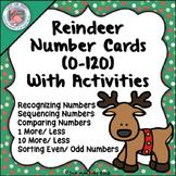 Number Card Activities 0-120 Reindeer