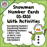 Number Card Activities 0-120 Snowmen