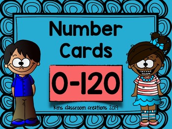 Number Cards 0-120 for Primary Grades