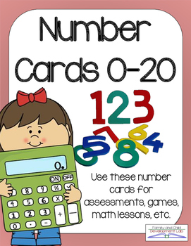 Math Flashcards: Numbers Cards 0-20 and Teaching Ideas