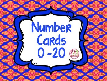 Number Cards 0 - 20