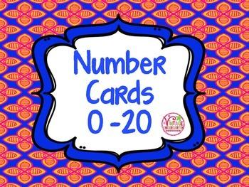 Number Cards 0 - 20