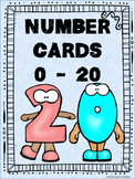 Number Cards 0 - 20 Math Centers Activities Math Stations