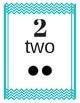 Number Cards 0-20 Chevron Aqua/Teal