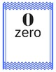 Number Cards 0-20 Chevron Primary Blue