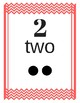 Number Cards 0-20 Chevron Primary Red