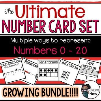Number Cards 0-20 (Print and Go cards)(Combo Pack!) #crazybundledeals