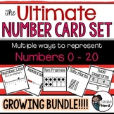 Number Cards 0-20 (Print and Go cards for Creative Lessons)(Combo Pack!)