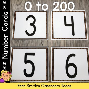 Number Cards 0 - 200 Dollar Deal