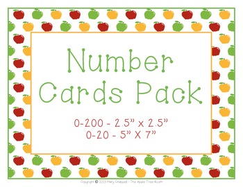 Number Cards 0-200 and 0-20 - Apple Theme