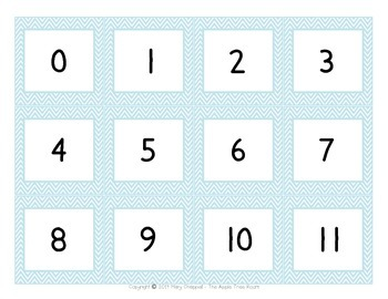 Number Cards 0-200 and 0-20 - Polar Theme