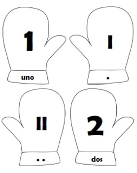 Number Cards 0-5 (English and Spanish)