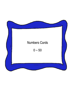 Number Cards  0 - 50