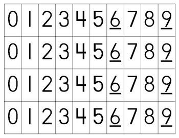 Number Cards 0-9