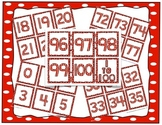 Number Cards: 0 to 100 for games, number lines, 100 days of school