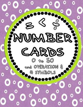 Number Cards 0 to 50 (FREE)