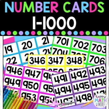 Number Cards 1-1,000