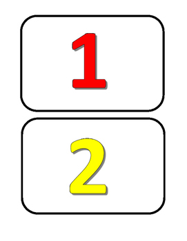 Freebie Number Cards 1 - 10