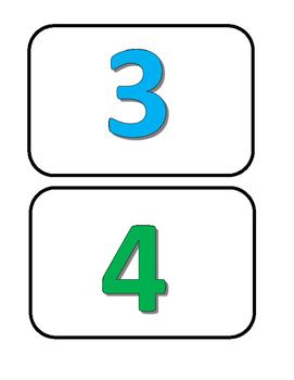 Freebie Number Cards 1 - 10