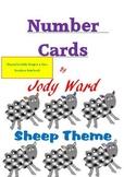 Number Cards 1 - 10 Rainbow Sheep Theme