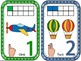 Number Cards 1-10 with Auslan Number signs-Transportation Edition