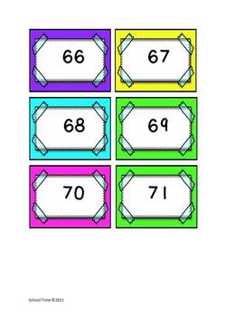 Number Cards 1 - 100