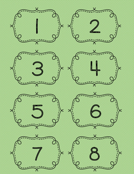 Number Cards 1-100