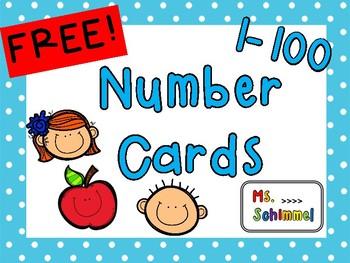 Number Cards 1-100