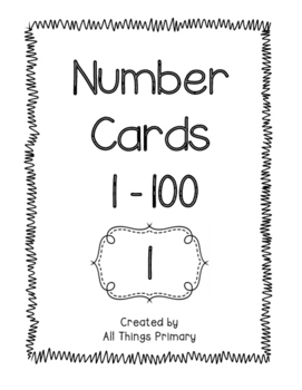 graphic about Printable Number Cards 1 100 named Amount Playing cards 1-100 Black and White