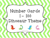 Number Cards 1-100 Dinosaur Theme