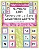 Number Cards 1-100 and Letter Cards
