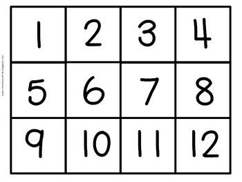 Number Cards 1-120