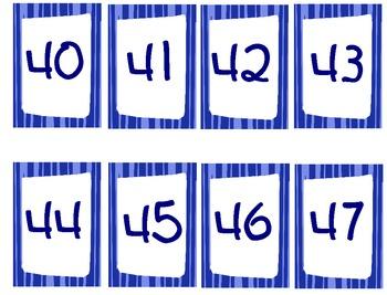 Number Cards 0-120
