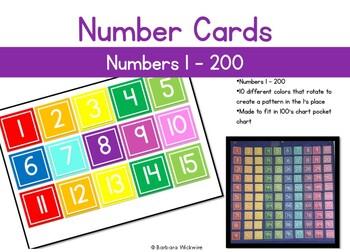 Number Cards 1 - 200