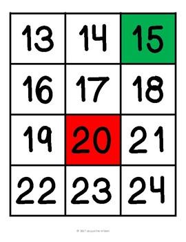 Number Cards 1 - 120