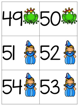 Number Cards 1-120-Fairy Tale Theme
