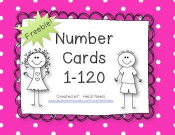 photograph relating to Free Printable Number Cards identified as Amount Playing cards 1-120 Freebie