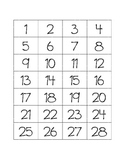 Number Cards 1-120 (Small)
