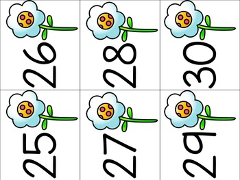 Number Cards 1-120 (Spring Theme)